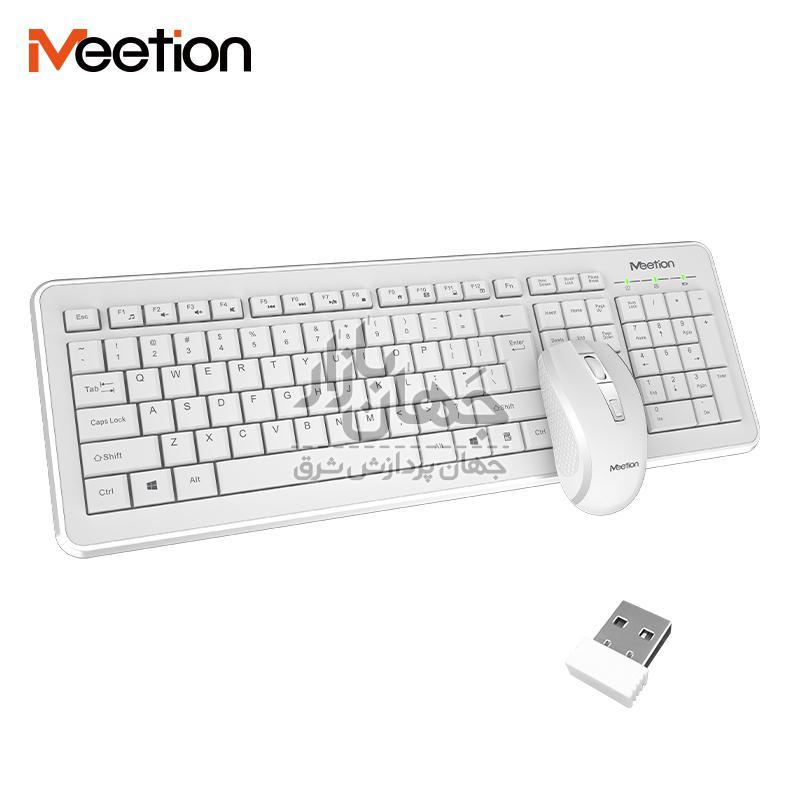 کیبورد ماوس حرفه ای میشن MeeTion C4120 2.4G Wireless