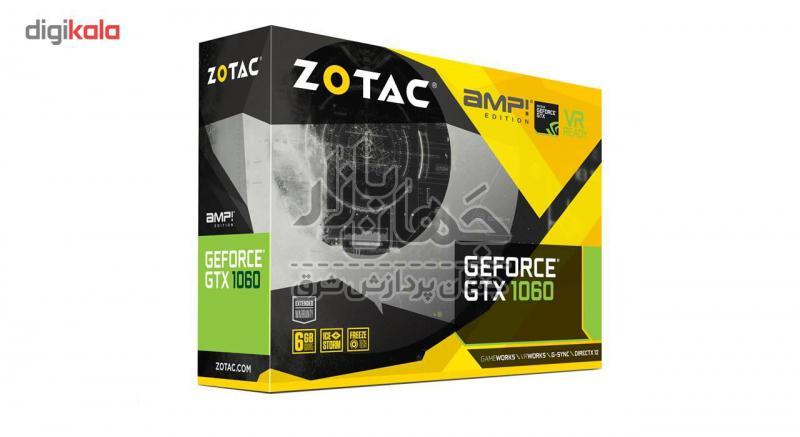 کارت گرافیک استوک زوتک مدل GTX 1060 AMP EDITION 6GB