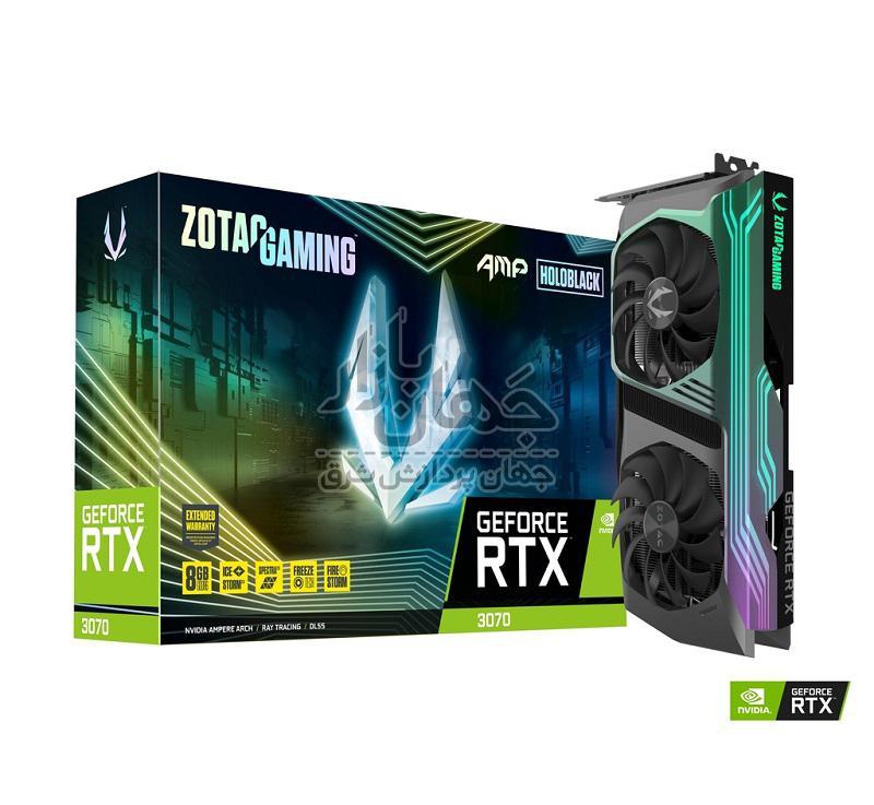 کارت گرافیک گیمینگ زوتک GeForce RTX 3070 AMP Holo ظرفیت 8 گیگابایت