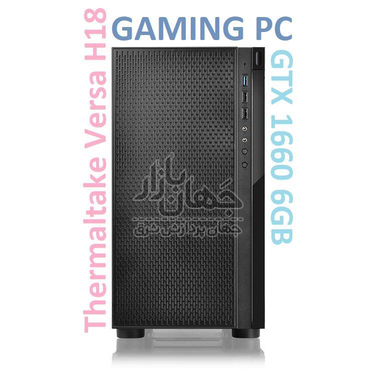 سیستم کامپیوتر ترمال تک گیمینگ ورسا i3 9100F گرافیک GTX 1660 6GB با کیس شیشه ای