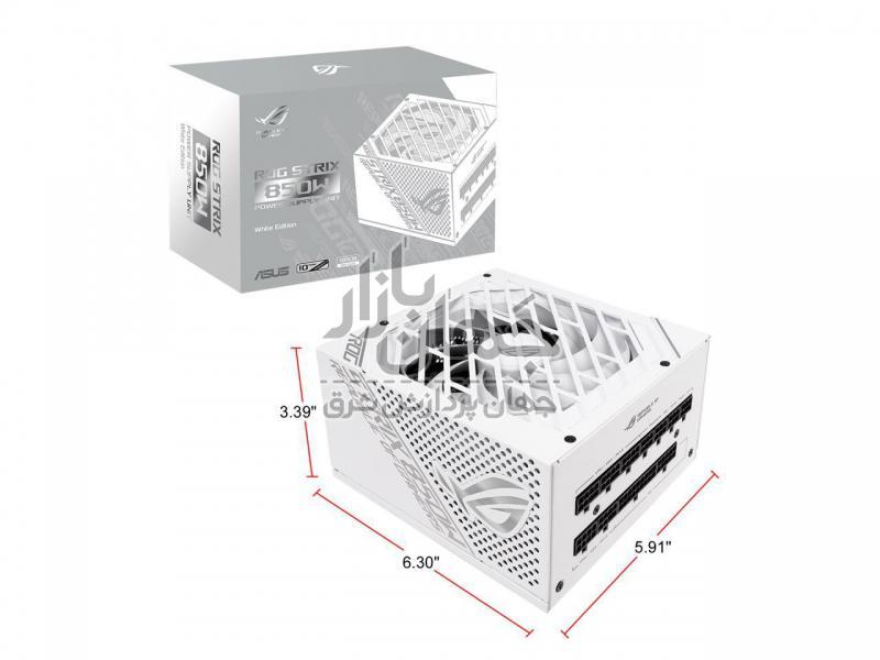 پاور ایسوس ۸۵۰ وات فول ماژولار  ROG-STRIX-850G-WHITE