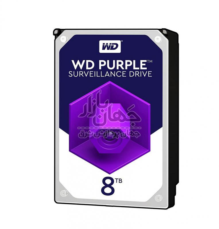 هارد دیسک اینترنال وسترن دیجیتال Purple WD80PURX ظرفیت 8 ترابایت