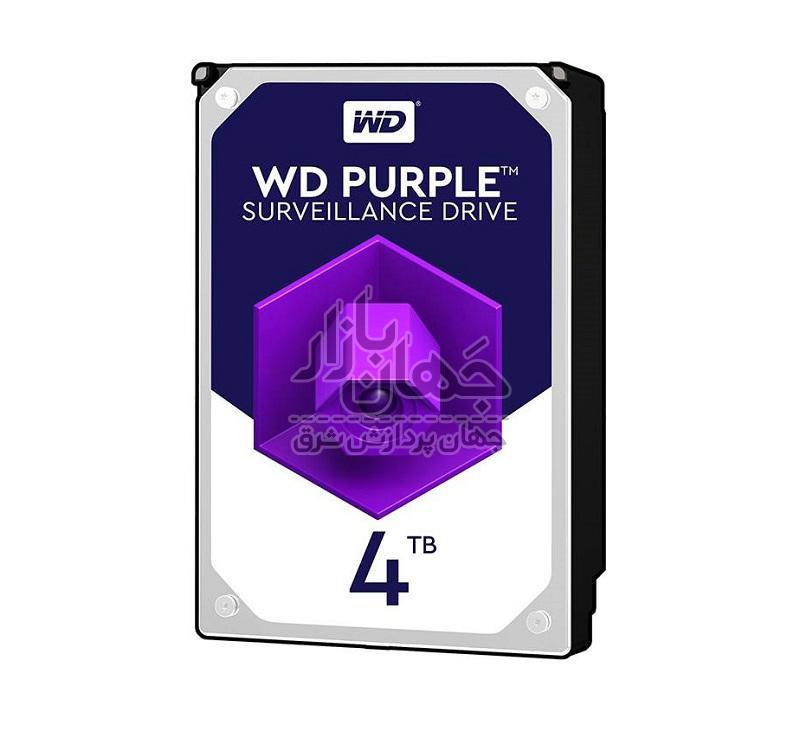 هارددیسک اینترنال وسترن دیجیتال Purple WD40PURZ ظرفیت 4 ترابایت