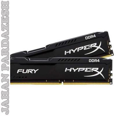 رم کامپيوتر کينگستون مدل HyperX Fury DDR4 2400MHz CL15 ظرفيت 4 گيگابايت | (Kingston HyperX Fury 4GB DDR4 2400MHz CL)
