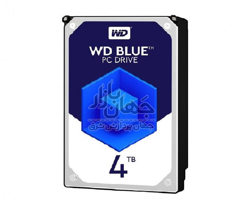 هارد دیسک اینترنال وسترن دیجیتال آبی ظرفیت 4 ترابایت مدل WD40EZRZ
