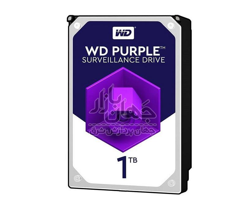 هارد دیسک اینترنال وسترن دیجیتال بنفش ظرفیت 1 ترابایت مدل WD10PURZ