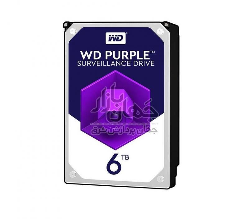 هارددیسک اینترنال وسترن دیجیتال بنفش Purple WD60PURZ ظرفیت 6 ترابایت