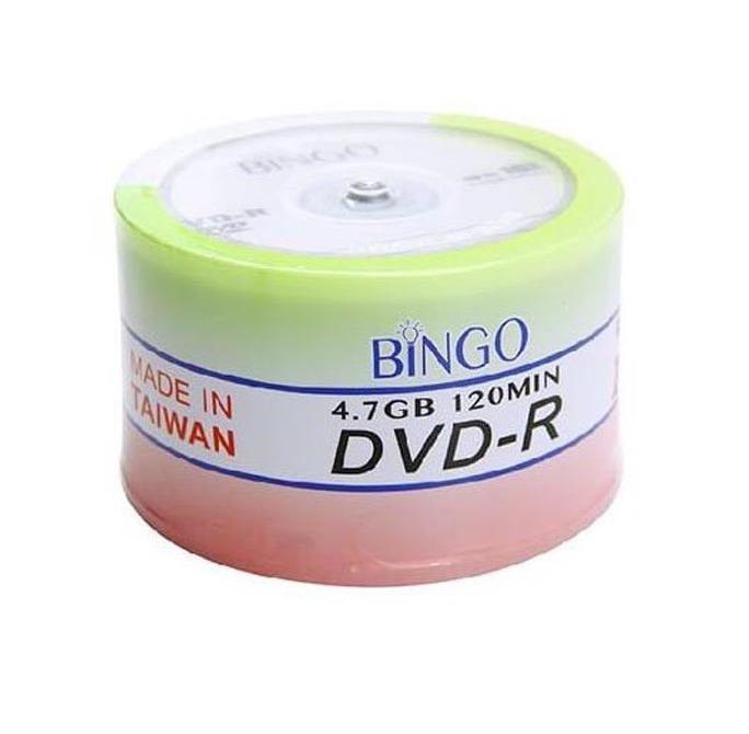 پک 50 تایی  DVD-R Bingo/ دی وی دی خام بینگو