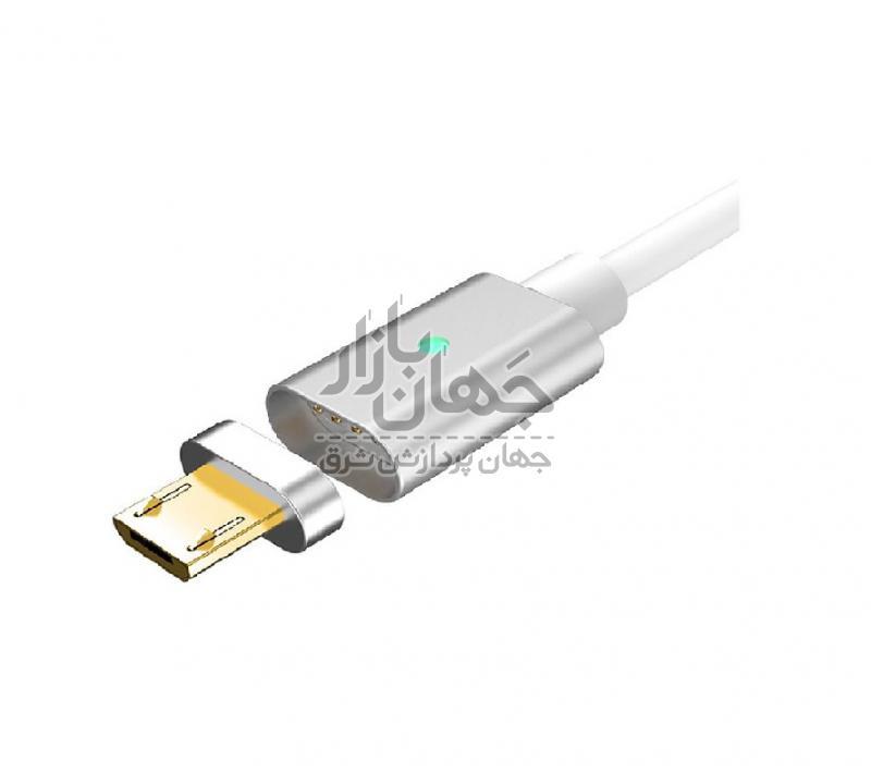 کابل تبدیل USB به microUSB مغناطیسی مدل metal magic
